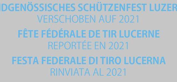 Das Eidgenössische Schützenfest 2020 wird um ein Jahr verschoben